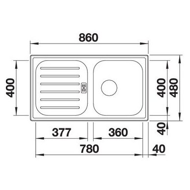 Nerūdijančio plieno plautuvė Blanco Flex Pro 45 S (86x48 cm) 3