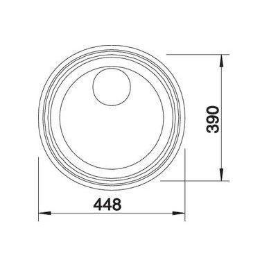 Nerūdijančio plieno plautuvė Blanco Rondosol-If (44,8x39 cm) 4
