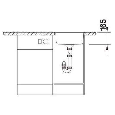Nerūdijančio plieno plautuvė Blanco Rondosol-If (44,8x39 cm) 5