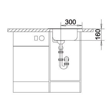 Nerūdijančio plieno plautuvė Blanco Tipo 45 18/10 (48x50 cm) 6