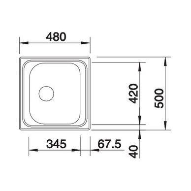 Nerūdijančio plieno plautuvė Blanco Tipo 45 18/10 (48x50 cm) 4