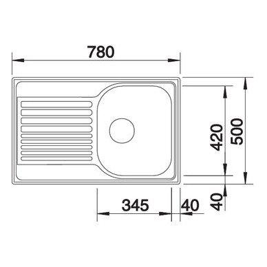 Nerūdijančio plieno plautuvė Blanco Tipo 45 Compact 18/10 (78x50 cm) 4