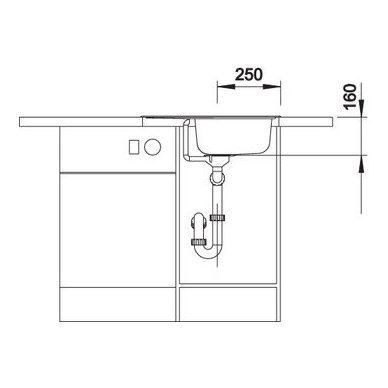 Nerūdijančio plieno plautuvė Blanco Tipo 45 S Mini 18/10 (60,5x50 cm) 6