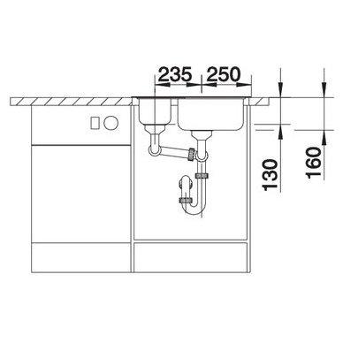 Nerūdijančio plieno plautuvė Blanco Tipo 6 18/10 (60,5x50 cm) 5