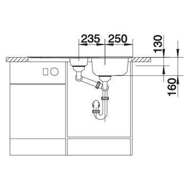 Nerūdijančio plieno plautuvė Blanco Tipo 6 S 18/10 (95x50 cm) 5
