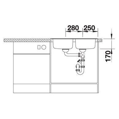 Nerūdijančio plieno plautuvė Blanco Tipo 8 Compact 18/10 (78x50 cm) 5