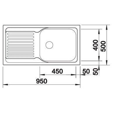 Nerūdijančio plieno plautuvė Blanco Tipo XL 6 S 18/10 (95x50 cm) 3