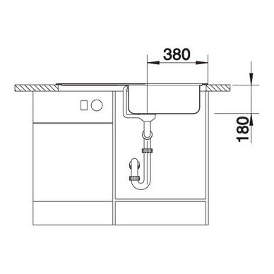 Nerūdijančio plieno plautuvė Blanco Tipo XL 6 S 18/10 (95x50 cm) 5