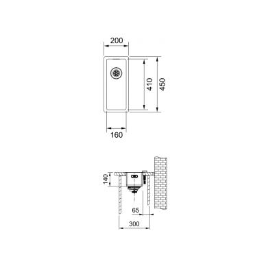 Nerūdijančio plieno plautuvė Franke BOX BXX 210/110-16 2