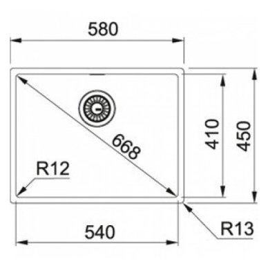 Nerūdijančio plieno plautuvė Franke BOX BXX 210/110-54 3