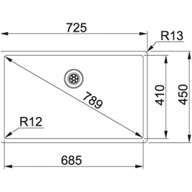 Nerūdijančio plieno plautuvė Franke BOX BXX 210/110-68 2