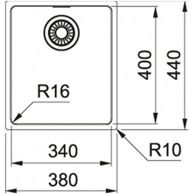 Nerūdijančio plieno plautuvė Franke Maris MRX 110-34 2