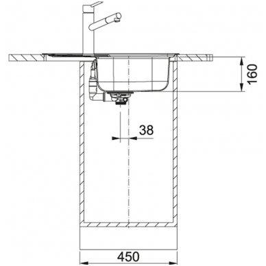 Nerūdijančio plieno plautuvė Franke Spark SKX 611-63 3