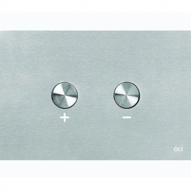 Nerūdijančio plieno vandens nuleidimo mygtukas OLI BLINK, pneumatinis