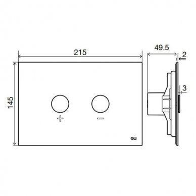 Nerūdijančio plieno vandens nuleidimo mygtukas OLI BLINK, pneumatinis 4