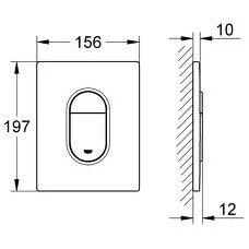 Nuleidimo mygtukas WC Grohe Arena Cosmopolitan