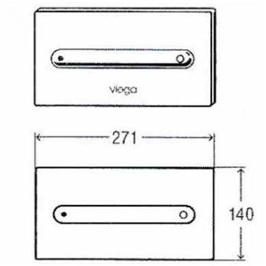 Nuleidimo mygtukas wc Viega Visign 11 3