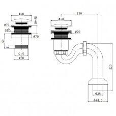 Omnires vonios sifonas SYOM-W10CR