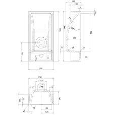 Pastatomas arba pakabinamas praustuvas Omnires Corfu 50 x 25 cm