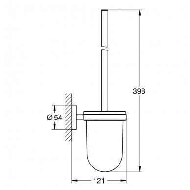 Pakabinamas tualetinis šepetys Grohe Essentials 2