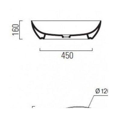Pastatomas ant stalviršio praustuvas GSI PURA 60cm su ExtraGlaze danga 8