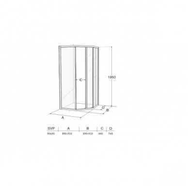 Penkiakampė dušo kabina Ifo Solid SVP NK99 3