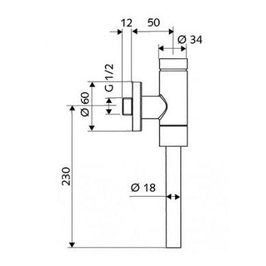 Pisuaro vandens nuleidimo mechanizmas Schellomat Basic 2