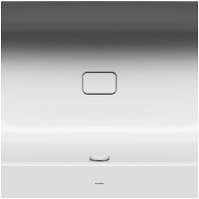 Plieninė vonia Kaldewei Asymmetric Duo ir sifonas su emaliuotais dangteliais 8