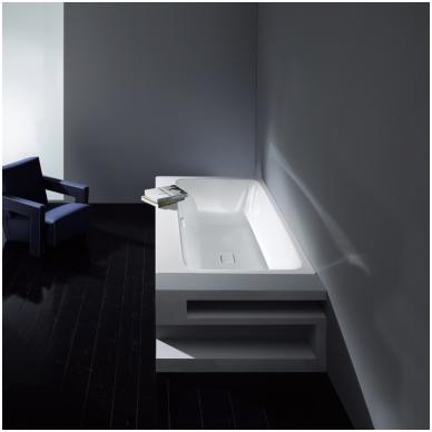 Plieninė vonia Kaldewei Asymmetric Duo ir sifonas su emaliuotais dangteliais 4