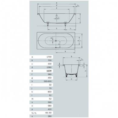 Plieninė vonia Kaldewei Classic Duo 4