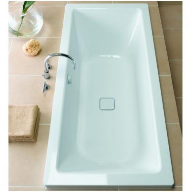 Plieninė vonia Kaldewei Conoduo ir sifonas su emaliuotais dangteliais 2
