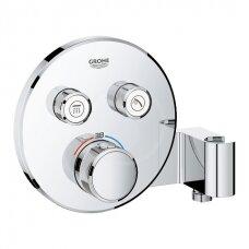 Potinkinė termostatinė dušo sistema Grohe Smart Control su 26 cm skersmens dušo galva