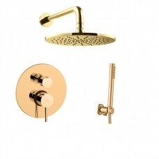 Potinkinė dušo sistema Paffoni Light (honey gold)