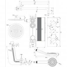 Potinkinė termostatinė sistema Omnires SYSYS01XCR Y