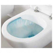 Potinkinio rėmo Geberit su chromuotu mygtuku ir Villeroy & Boch O.Novo Direct-flush WC komplektas