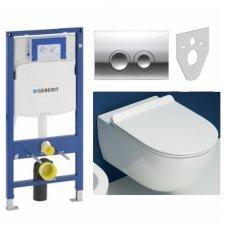 Potinkinio WC rėmo Geberit ir klozeto Flaminia su GO CLEAN funkcija komplektas
