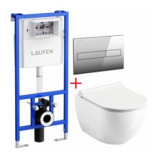 Potinkinio WC rėmo Laufen ir klozeto Ravak Uni Chrome RimOff  komplektas