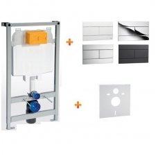 Potinkinio WC rėmo, mygtuko, tvirtinimų ir tarpinės komplektas OLI 4 in 1