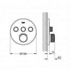 Potinkinis termostatinis maišytuvas Grohe GROHTHERM SMARTCONTROL 29121000