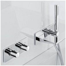 Potinkinis termostatinis vonios/dušo maišytuvas su rankiniu dušu ir snapu Alpi Nu