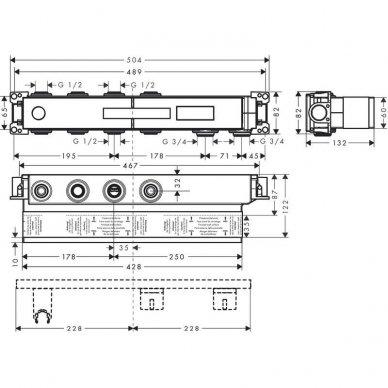 Potinkinė 2-jų funkcijų termostatinio maišytuvo dalis Hansgrohe RainSelect 2