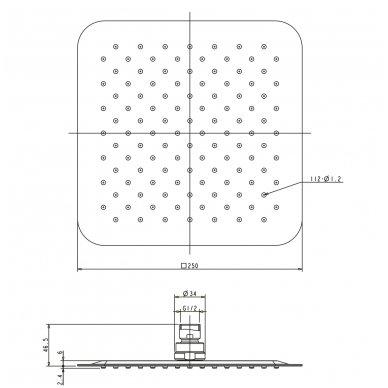 Potinkinė dušo sistema Omnires SYS PM10 3