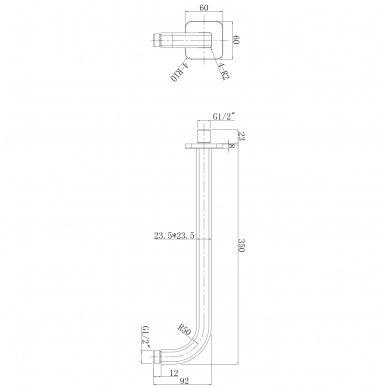 Potinkinė dušo sistema Omnires SYS PM10 4