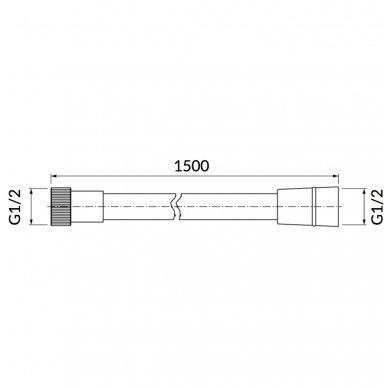 Potinkinė dušo sistema Omnires SYS PM10 6