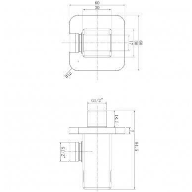 Potinkinė dušo sistema Omnires SYS PM10 7