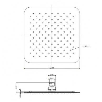 Potinkinė dušo sistema Omnires SYS SL10CR 6