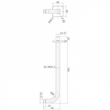 Juoda potinkinė dušo sistema Omnires SYSPM10 BL 6