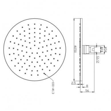 Potinkinė dušo sistema Omnres SYS Y22 5
