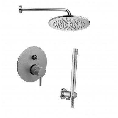 Potinkinė dušo sistema Paffoni Light (brushed nickel)