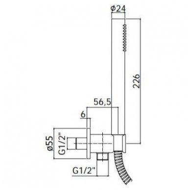 Potinkinė dušo sistema Paffoni Light (brushed nickel) 5
